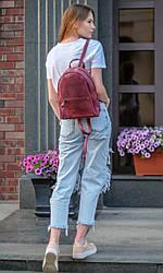 Рюкзак Лимбо, размер средний Винтажная кожа цвет Бордо