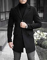 Пальто-тренч мужское кашемировое демисезонное / Coat black