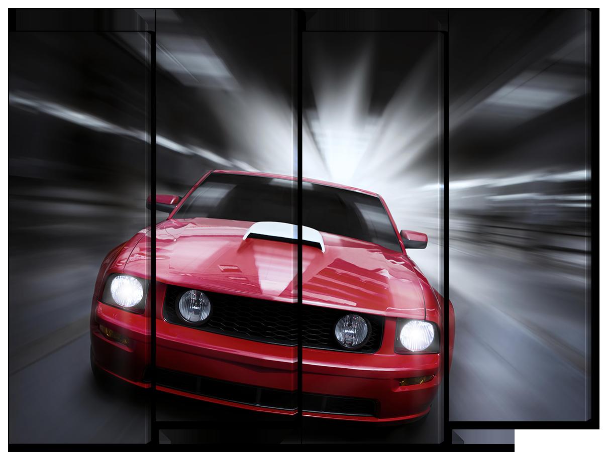 Модульная картина Interno Эко кожа Авто на скорости124х94см (A1611L)