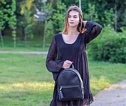 Женский кожаный рюкзак Лимбо, размер средний Винтажная кожа цвет Синий, фото 3