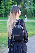 Женский кожаный рюкзак Лимбо, размер средний Винтажная кожа цвет Синий, фото 2
