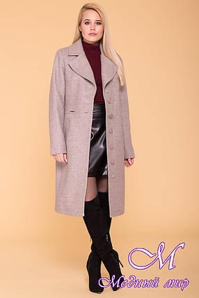 Женское бежевое демисезонное пальто (р. S, M, L) арт. Габриэлла 7878 - 43822, фото 2