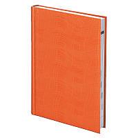 Ежедневник недатированный в линию Brunnen Агенда Wave, А5, твёрдая обложка, оранжевый