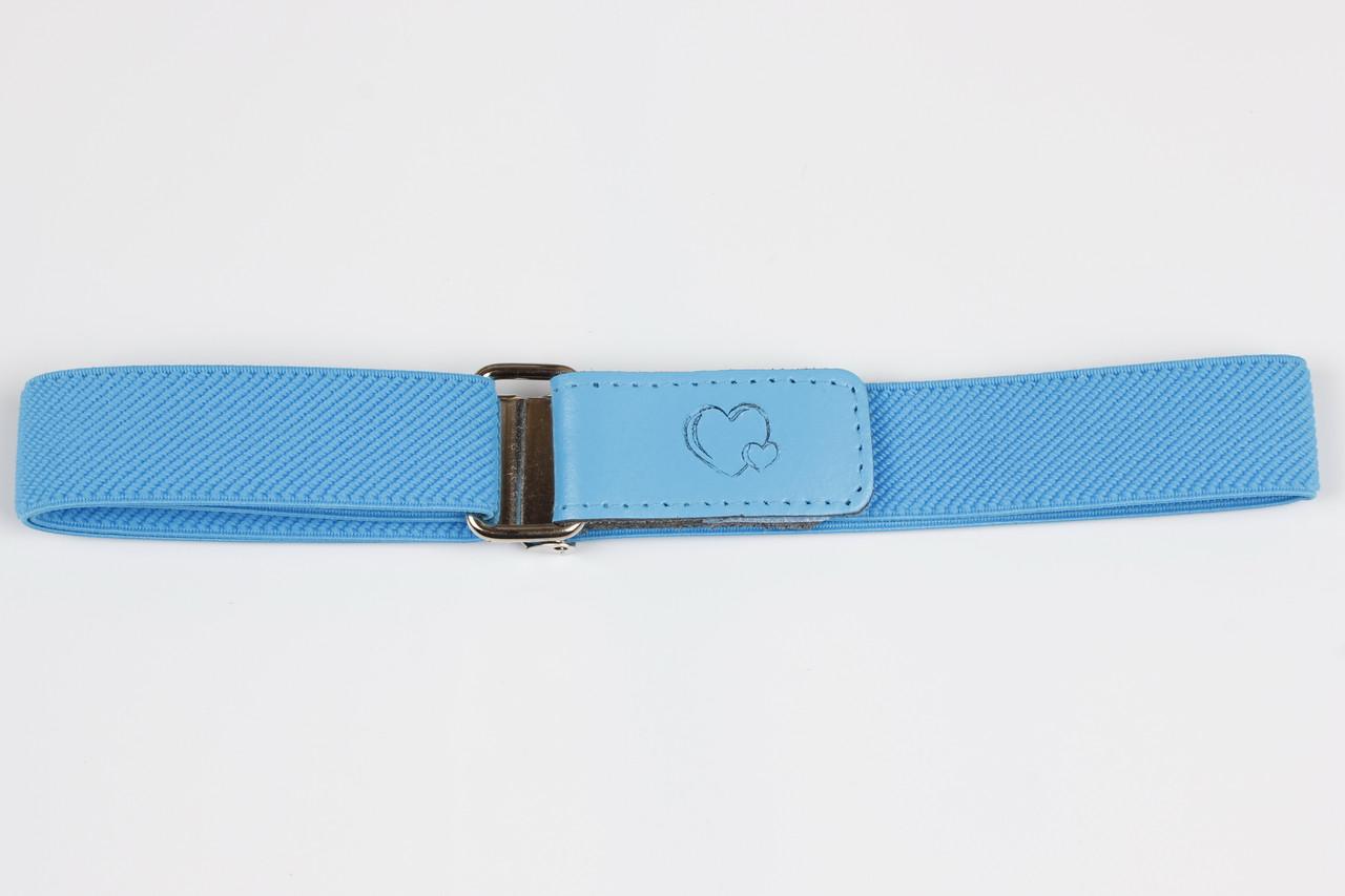 Ремень детский Р15 Top Gal голубой однотонные цвета в ассортименте