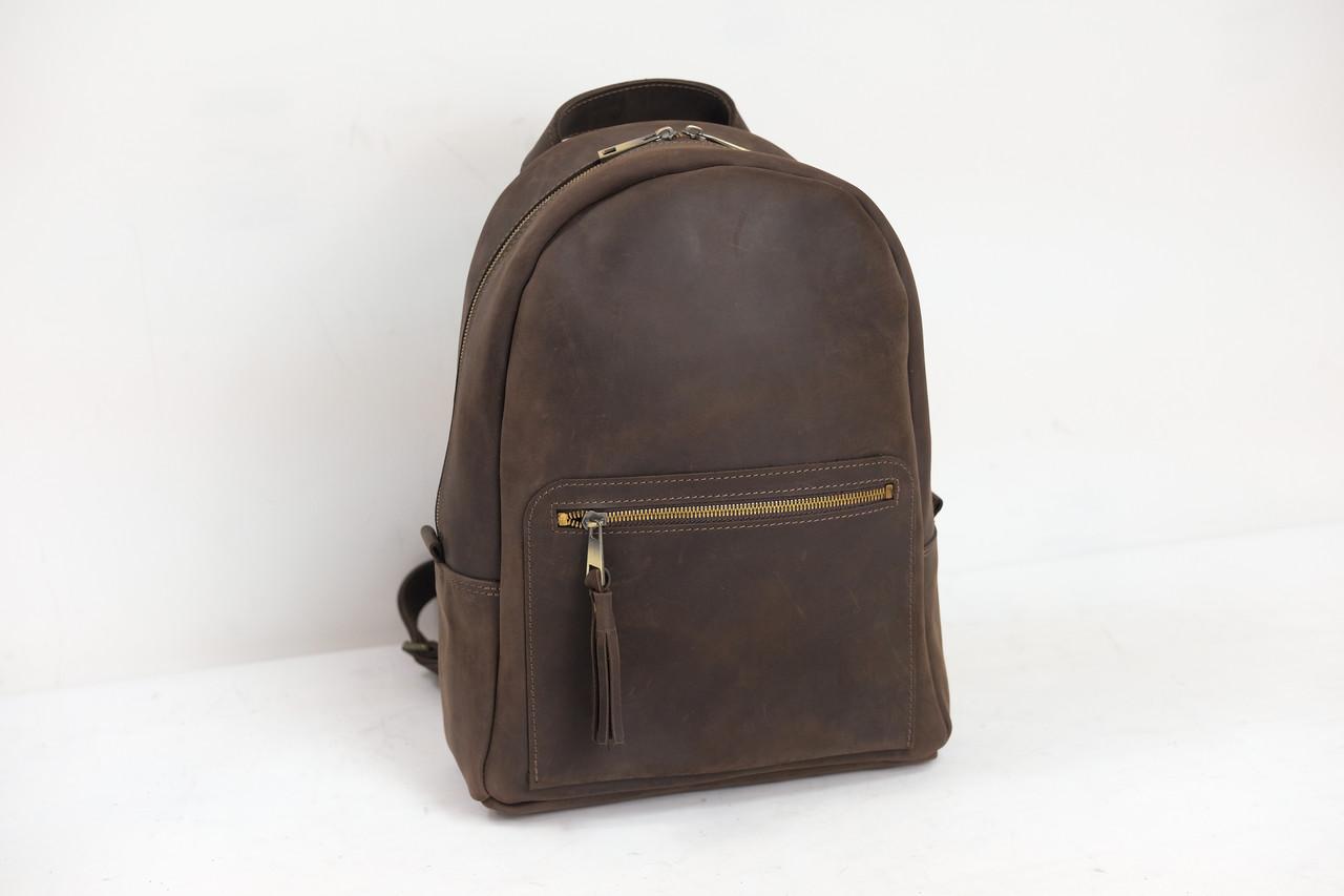 Женский кожаный рюкзак Лимбо, размер большой Винтажная кожа цвет Шоколад