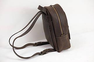 Женский кожаный рюкзак Лимбо, размер большой Винтажная кожа цвет Шоколад, фото 3
