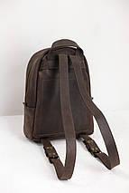 Женский кожаный рюкзак Лимбо, размер большой Винтажная кожа цвет Шоколад, фото 2