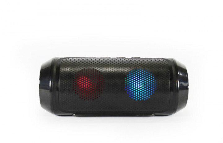 Портативная Bluetooth колонка Q610 с подсветкой черный