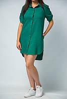 Платье рубашка с регулируемым рукавом на пуговицах миди от бренда Адель Леруа
