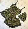 """Шелковый женский комплект-пижама """"Samantha"""" с кружевом (3 цвета), фото 5"""