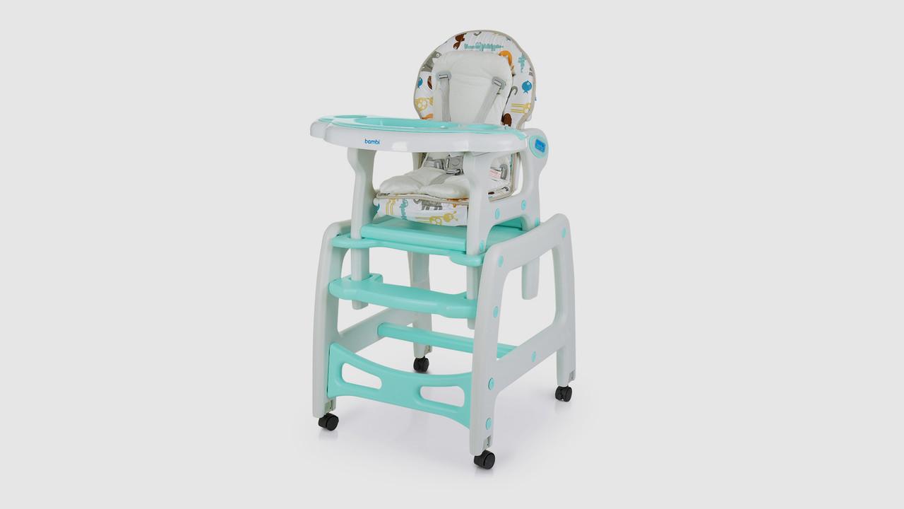 Стульчик для кормления 2в1.M1563ANIMALMINT.Столик и стульчик.Животные.Мятный