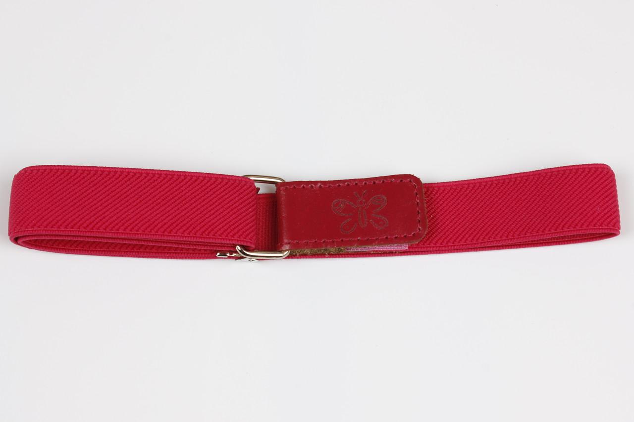 Ремень детский резинка на липучке P15 Top Gal розовый однотонные цвета в ассортименте