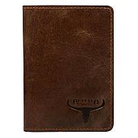 Чохол для прав, ID паспорта і пластикових документів шкіряний коричневий Buffalo Wild OKL1-MVTB