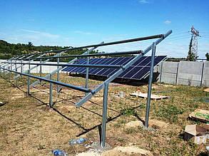 Установка солнечных панелей.