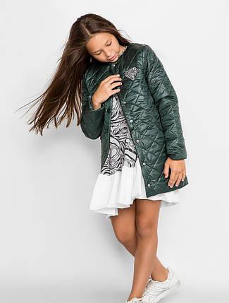 Детское стеганое пальто демисезонное для девочки | размеры 134-152, фото 2