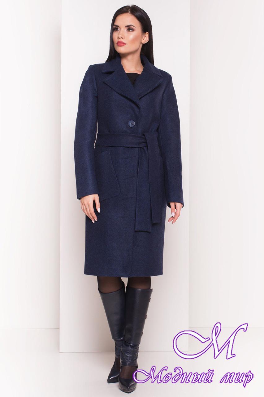 Удлиненное демисезонное пальто женское (р. S, M, L) арт. Габриэлла 7872 - 43799