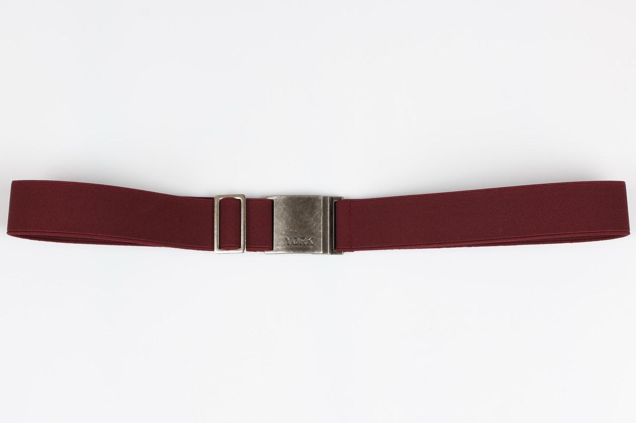 Ремень подростковый резинка P30 Top Gal бордовый однотонные цвета в ассортименте