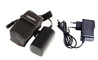Аккумуляторный блок для велофар и налобных фонарей Trustfire 4000mAh Li-Ion 4x18650 + зарядка, фото 1