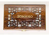 I5-60 Домино дерево, Классическое домино, Настольное домино, Игры настольные, Домино деревянное подарочное