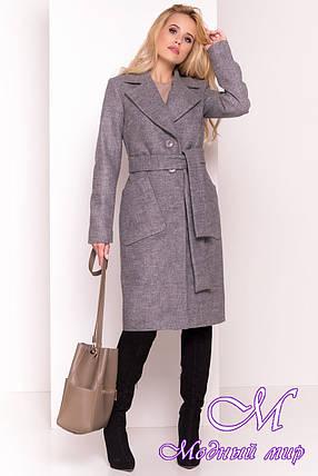 Удлиненное осеннее пальто женское (р. S, M, L) арт. Габриэлла 7872 - 43805, фото 2