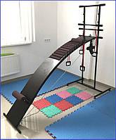 Тренажёр массажёр лежак для восстановления позвоночника с прогибом на подставке №1