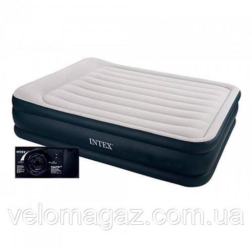 Велюрова ліжко-матрац INTEX 64140 з вбудованим ел.насосом,152*203*51 см