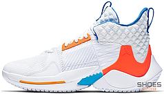 Мужские кроссовки Nike Air Jordan Why Not 0.2 OKC Home (PS) AT5719-100, Найк Аир Джордан Вай Нот