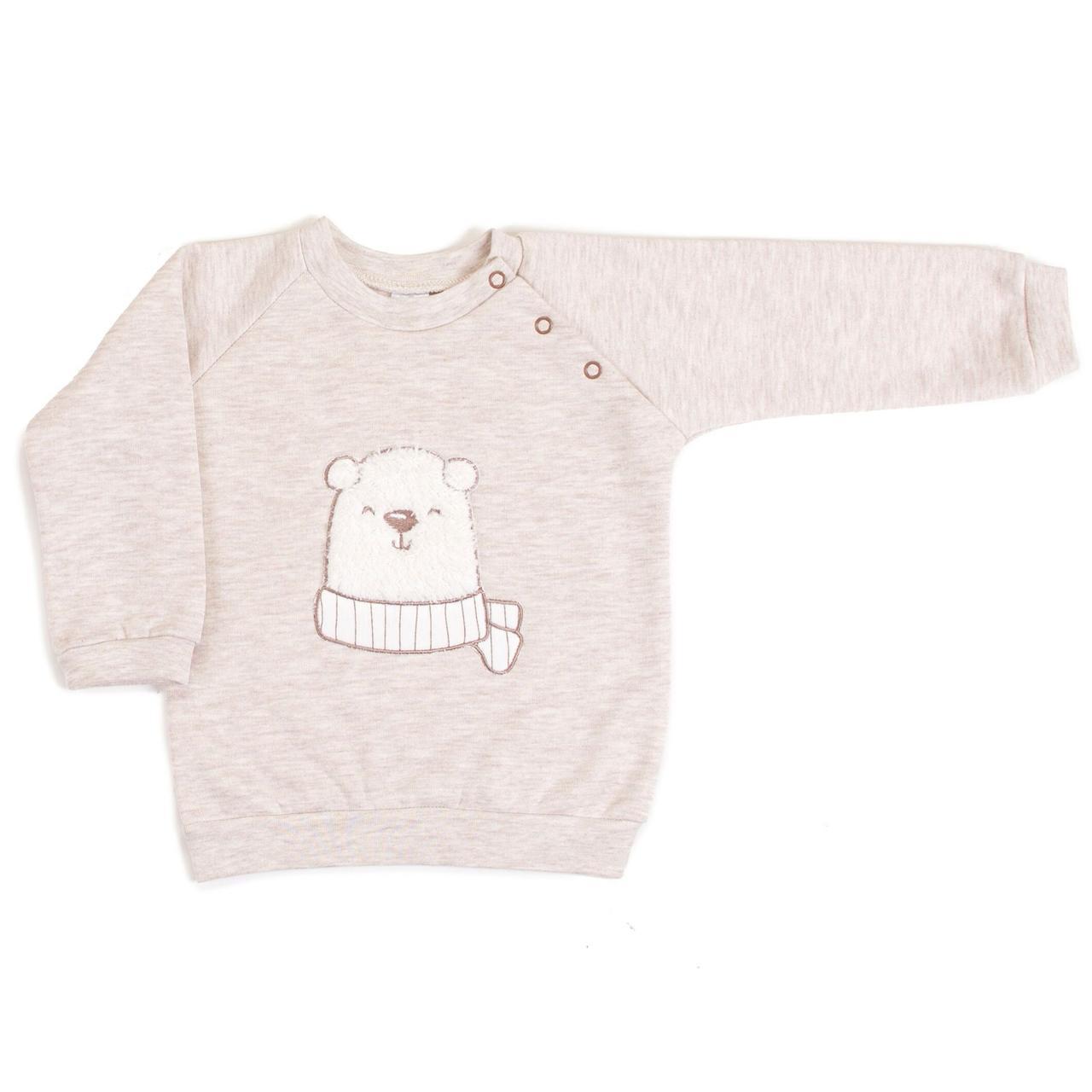 Кофточка-свитшот Верес Polar bear футер з начесом бежевый