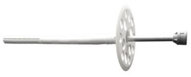 Дюбель для кріплення термоізоляції з металевим цвяхом та термоголовкою 10х220, D60, ЛІМ, подовжена розпірна частина