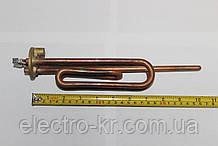 Тэн гнутый медный KAWAI для бойлера 2000 Вт (на фланце Ø48мм) с местом под анод М6 / длинные контакты
