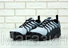 Мужские кроссовки Nike Air Vapormax Plus Blue / Black (Найк Вапормакс Плюс) голубые с черным, фото 2