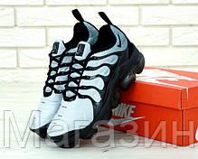 Мужские кроссовки Nike Air Vapormax Plus Blue / Black (Найк Вапормакс Плюс) голубые с черным, фото 3