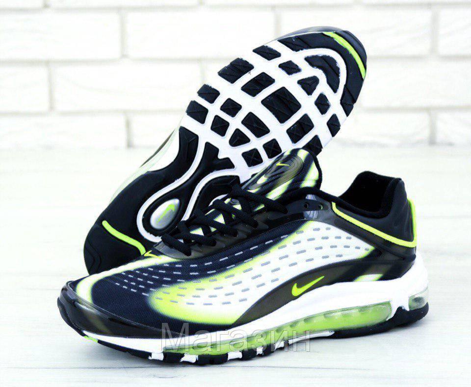 Мужские кроссовки Nike Air Max Deluxe OG 1999 (Найк Аир Макс) в стиле черные с белым