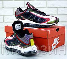 Мужские кроссовки Nike Air Max Deluxe OG 1999 (Найк Аир Макс) в стиле черные с белым, фото 2