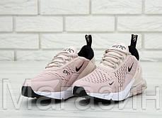 Женские кроссовки Nike Air Max 270 (Найк Аир Макс 270) бежевые, фото 2