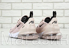 Женские кроссовки Nike Air Max 270 (Найк Аир Макс 270) бежевые, фото 3