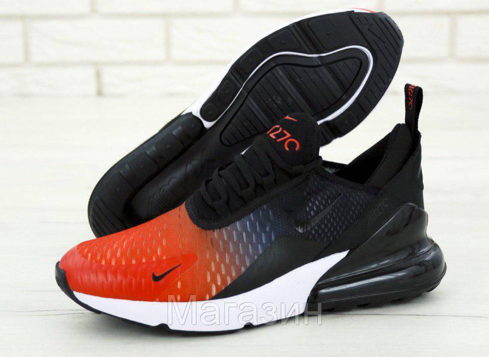 Мужские кроссовки Nike Air Max 270 Black/Navy Blue/Red (в стиле Найк Аир Макс 270) красные с черным