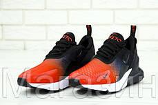 Мужские кроссовки Nike Air Max 270 Black/Navy Blue/Red (в стиле Найк Аир Макс 270) красные с черным, фото 2