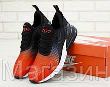 Мужские кроссовки Nike Air Max 270 Black/Navy Blue/Red (в стиле Найк Аир Макс 270) красные с черным, фото 3