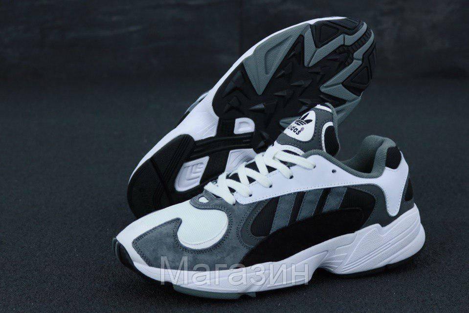"""Мужские кроссовки adidas Yung-1 """"White / Grey"""" в стиле Адидас Янг 1 белые / серые"""