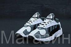 """Мужские кроссовки adidas Yung-1 """"White / Grey"""" в стиле Адидас Янг 1 белые / серые, фото 2"""