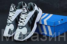 """Мужские кроссовки adidas Yung-1 """"White / Grey"""" в стиле Адидас Янг 1 белые / серые, фото 3"""