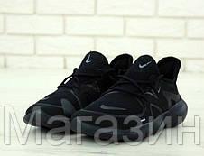 Мужские кроссовки Nike Free RN 5.0 Black (Найк Фри Ран) черные, фото 2