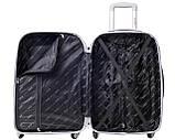 Пластиковый дрожный чемодан на колесах Bonro Smile большой бордовый, фото 3