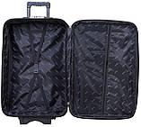 Дорожный чемодан на колесах тканевый Bonro Style большой черно-салатовый, фото 5