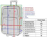 Дорожный чемодан на колесах тканевый Bonro Style большой черно-салатовый, фото 6