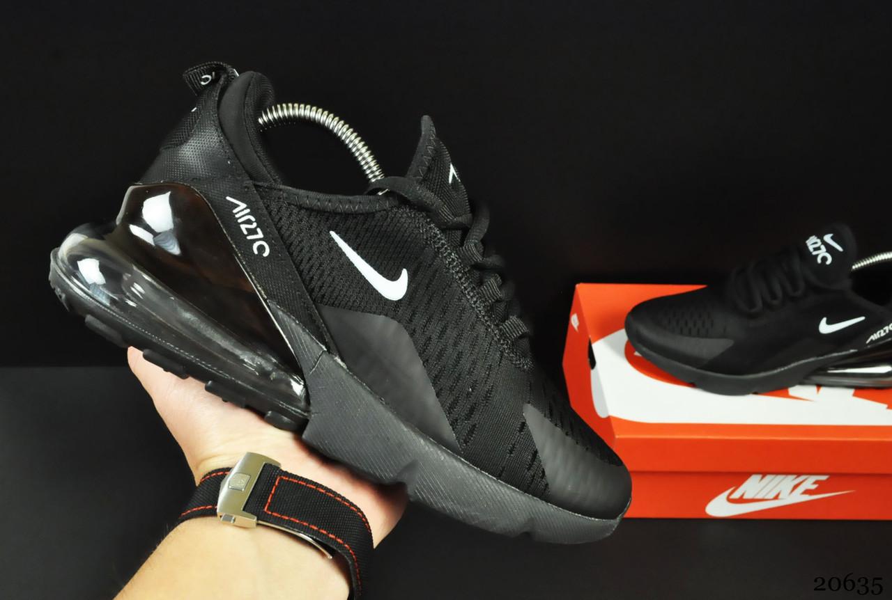 Женские Кроссовки Nike Air Max 270 арт 20635 (черные, найк)