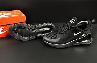 Женские Кроссовки Nike Air Max 270 арт 20635 (черные, найк), фото 3