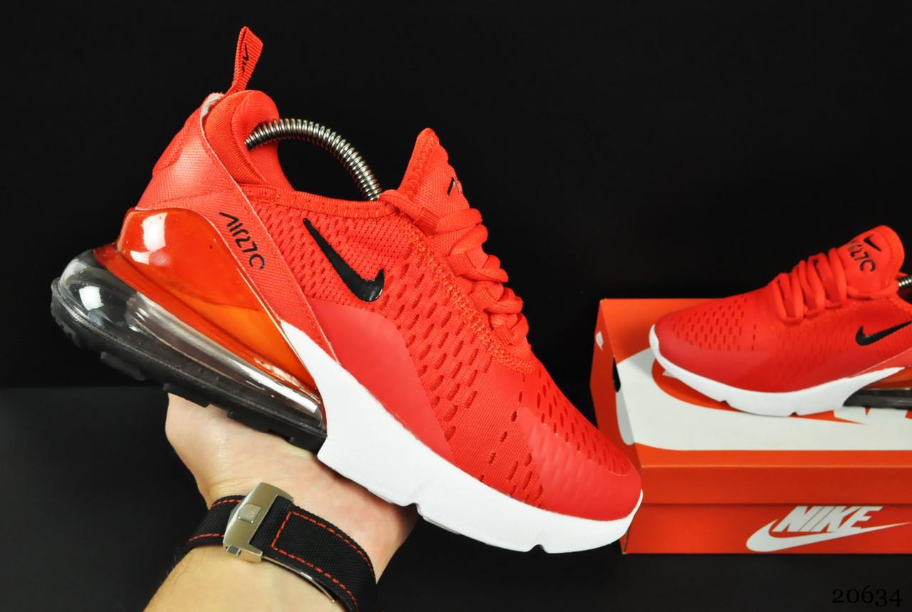 Кроссовки Кроссовки Nike Air Max 270 арт 20634 (женские, красные, найк)