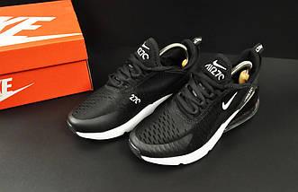 Женские Кроссовки Nike Air Max 270 арт 20633 (женские, черные, найк), фото 3